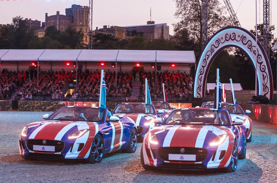 Jaguar F-TYPE Union Jack Queen Elizabeth 90th Birthday